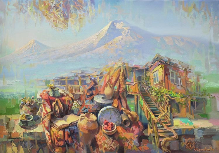 ararat mountain original and exclusive oil paintings by meruzhan